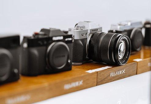 Camera, Color, Man, Black, Lens, Photography, Photo