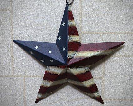 Star, America, Flag, Metallic, Usa, Stars, Patriotic