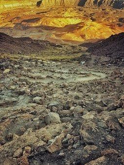 Volcano, Mountain, Landscape, Desert