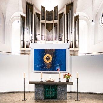 Church, Organ, Architecture, Religion, Building