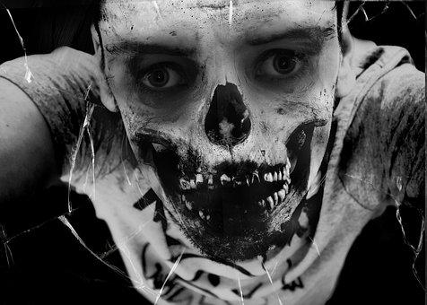 Zombie, Face, Horror, Scary, Halloween, Evil, Skull