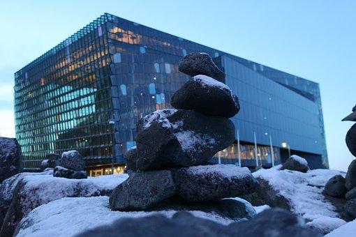 Harpa, Reykjavik, Stones, Glass