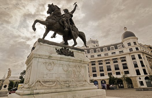 Landscape, Urban, Statue, Monument, The Driver, Warrior