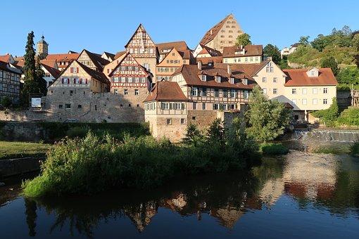 Schwäbisch-hall, Truss, Fachwerkhäuser, Historic Center