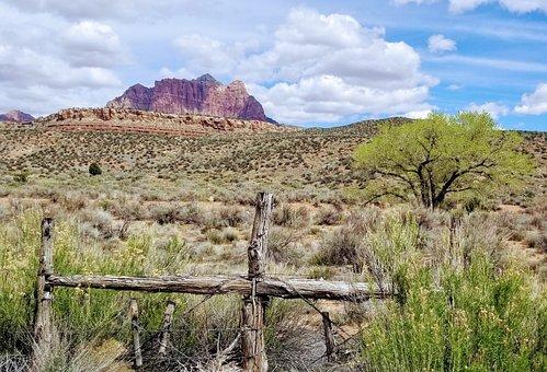 Utah, Desert, Rural, Scenery, Grafton