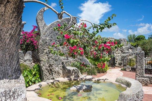 Coral Castle, Florida, Attraction, Miami, Stones