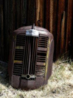 Hood, Part, Automobile, Truck, Gmc, Vehicle, Oldtimer