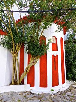 Stripe, Building, Red, Colourful, Design, Horizontal