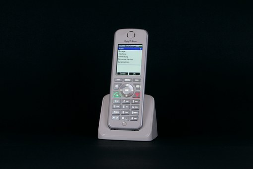Phone, Fritz Fon, Cordless, Display, Keys