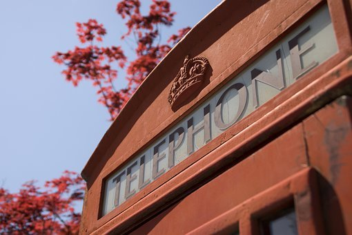 Phone Box, Telephone Booth, England, Telephone