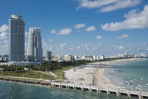 Miami, Beach, Water, Ocean, South, Miami Beach, Florida