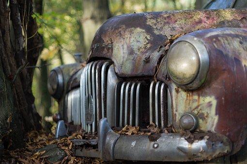 Classic Car, Holden, Grill, Car, Vintage, Junk Yard