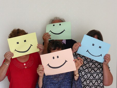 Optimism, Smile, Group, Welcome, Mask, Collusion