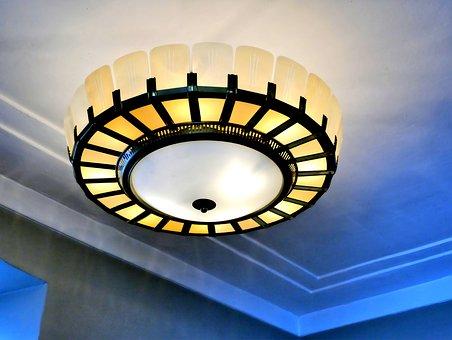 Ceiling Lamp, Old, Lamp, Light, Lighting, Lampshade