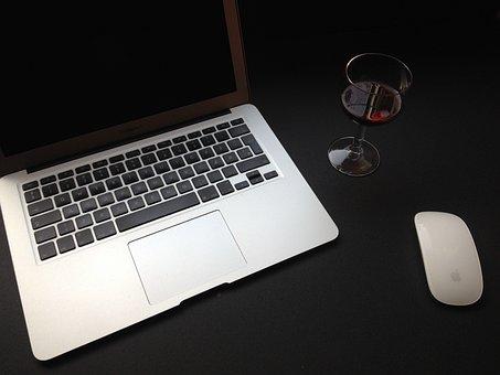 Mockup, Business, Office, Laptop, Computer, Technology