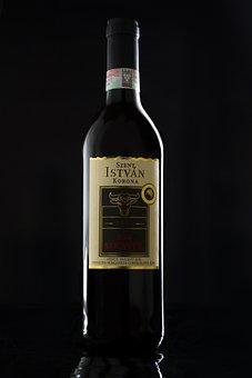 Bottle, Wine, Mockup