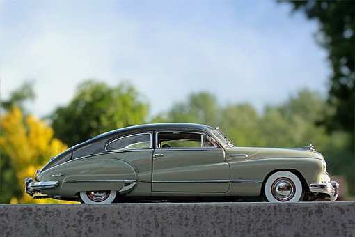 Auto, Oldtimer, Buick, Model Car, Photomontage