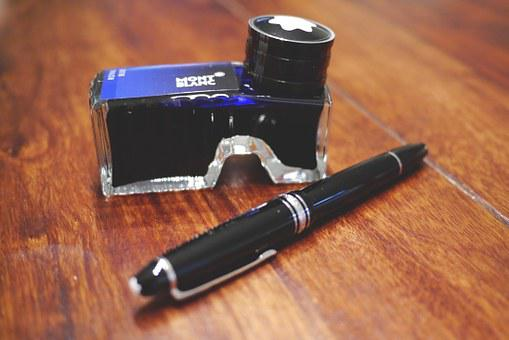 Fountain Pen, Ink, Mont Blanc, Montblanc Writing Tool