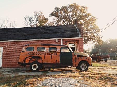 Rustic, Vehicle, Vintage, Retro, Throwback, Old School