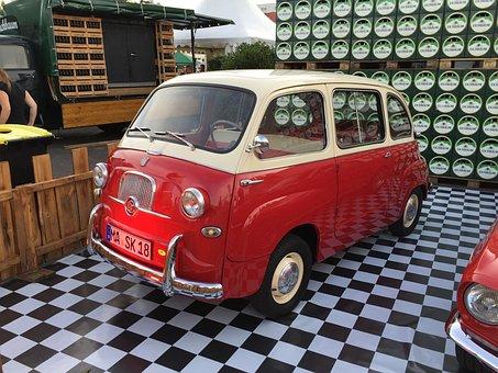 Fiat, Multipla, Oldtimer, Italy, Nostalgic, Red