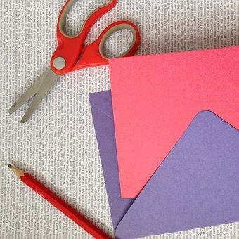 Craft, Project, Paper, Card, Scissors