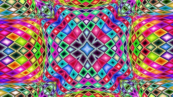 Kaleidoscope, Pattern, Sacred Geometry, Mosaic