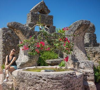 Coral Castle, Miami, Florida, Attraction, Person, Woman