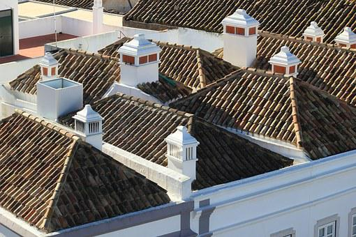 Portugal, Faro, Roof, Rooftops