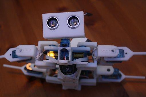 Robot, Servo, An Ultrasound Sensor, Motor, Recycling