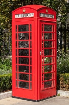 Phone, Public Phone, Red, Great Britain, Street, Shed