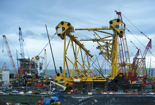 Solan Project, Shipyard, Oil Rig, Scotland