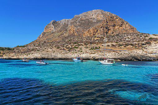 Sicily, Favignana, Island, Sea
