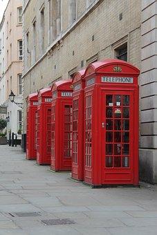 Red Phone Box, London, Telephone, Telephone Box
