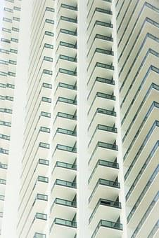 Architecture, Building, Miami, Windows, Apartments