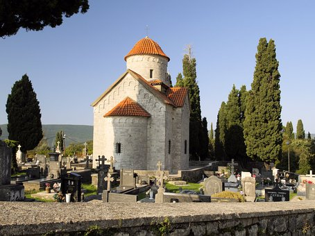 Church, Trees, Sky, Village, Architecture, Montenegro