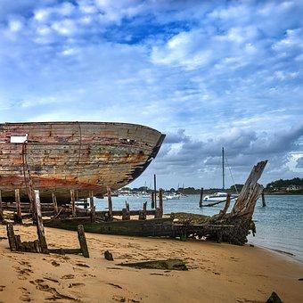 The Magouër, Brittany, Morbihan, France, Wreck