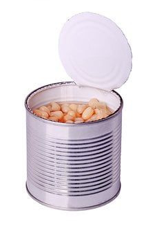Vegetarian, White, Canned, Bean, Vegetable, Can, Food
