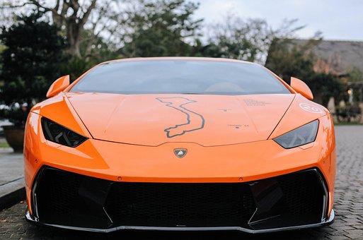 Car, Lamborghini, Huracan, Traffic, Run, Luxury