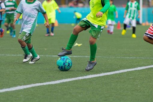 Football, Ball, Player, Sport, Footballers, Play, Green