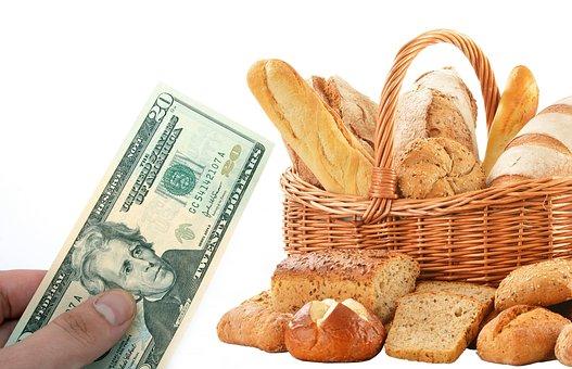 Bakery, Shop, Bread, Buy, French, Money, Basket