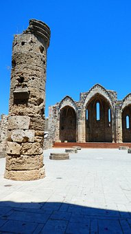 Rhodes Old Town, Ruin, Greece, Island, Temple, Antique