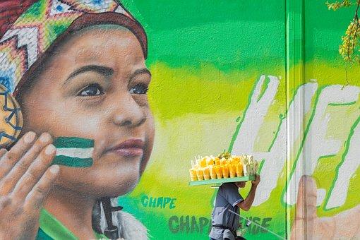 Mural, Graffiti, Green, Art, Street