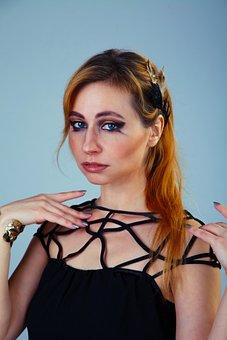 Makeup, Makeup Artist, Gothic, Portrait, Hands, Posture
