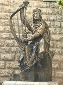 David, Harp, King, Bible, Religion, Crown, Music