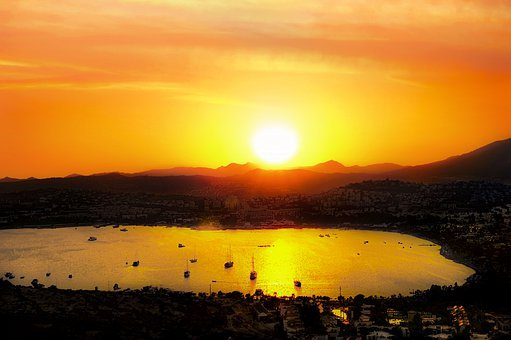 Landscape, Offer, Sunset, Sunlight, Seascape, See, Sky
