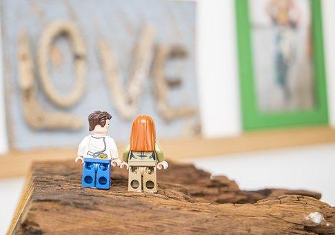 Lego, Couple, Love, Valentine's Day, Romance, Lovers