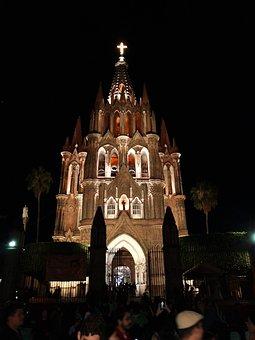 San Miguel De Allende, Church, Mexico, Architecture