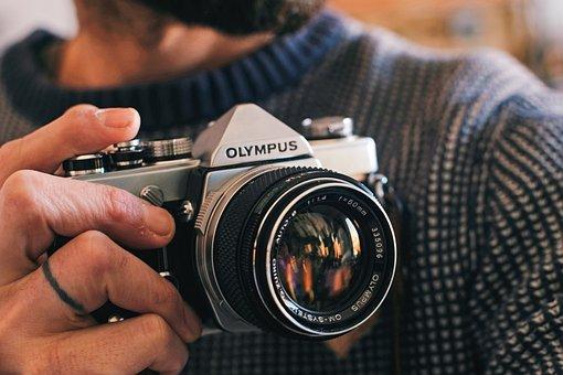 Camera, Hand, Photographer, Photography, Focus, Film
