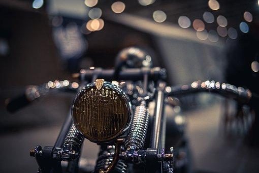 Motorcycle, Vintage, Bokeh, Retro