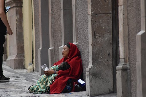 Alms, Women, Mexico, Street, San Miguel Allende